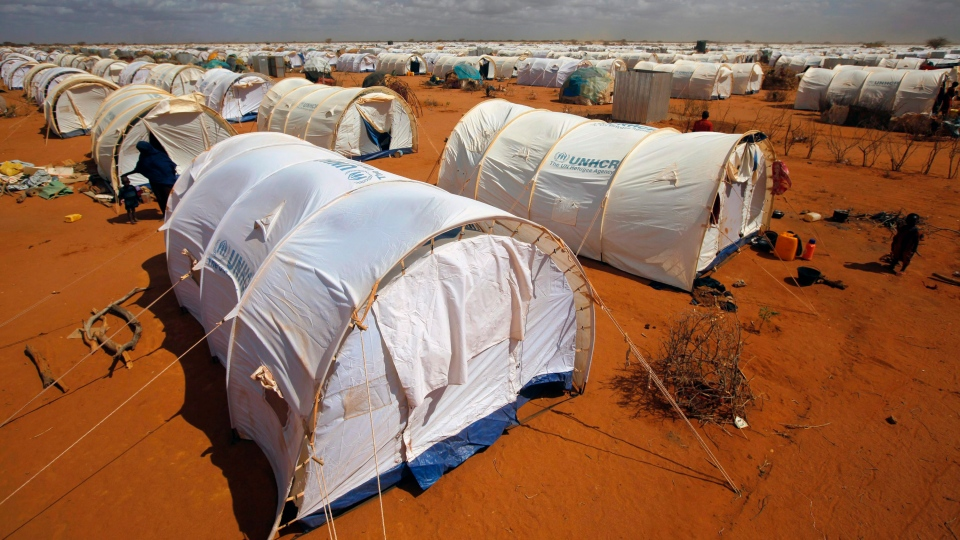 In this Friday, Aug. 5, 2011, file photo, tents are seen at the UNHCR's Ifo Extension camp outside Dadaab, eastern Kenya, 100 kilometers from the Somali border. (Jerome Delay, File/AP Photo)