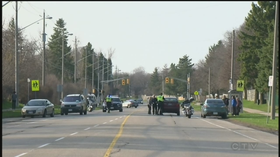 A 96-year-old man was hit by a car on Saturday evening around 5:30 p.m.