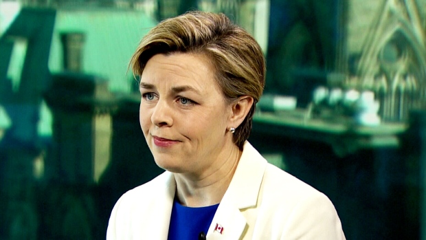 Conservative Leadership Candidate Kellie Leitch speaks during an interview on CTV's Question Period. (CTV)