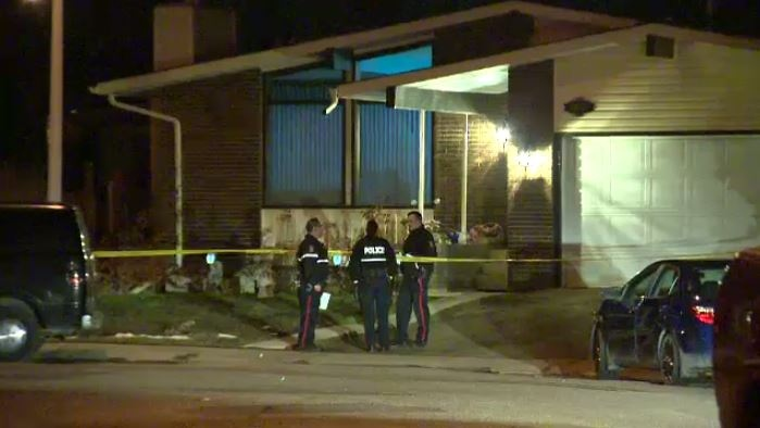 Police investigating a death in a northeast Edmonton home early Monday, April 17, 2017.