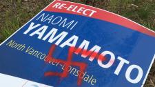 Naomi Yamamoto swastika