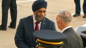 CTV News Channel: Sajjan arrives in India
