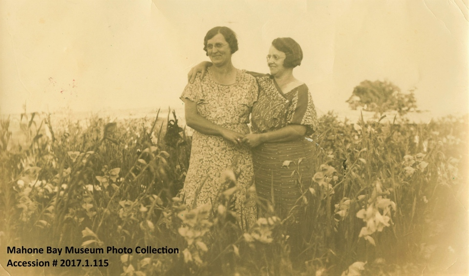 Fannie Ernst and an unidentified woman are shown in this image from around 1915. The Mahone Bay Museum in Nova Scotia is asking the public for help in identifying the subjects in historical images. (Source: Mahone Bay Museum)