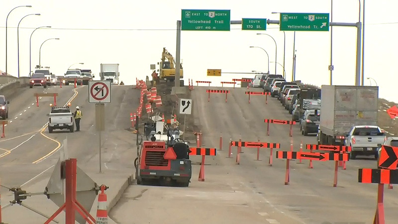 Crews started work on the 170 St. bridge north of Yellowhead Tr. on Monday, April 17, 2017.