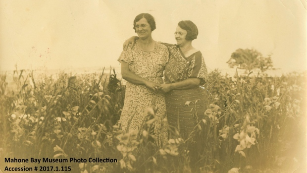 Fannie Ernst and unidentified woman c.1915. (Source: Mahone Bay Museum)