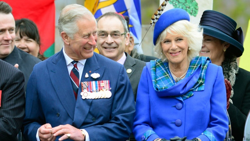 Prince Charles and his wife Camilla smile during an event in Halifax on Monday, May 19, 2014. (Paul Chiasson / THE CANADIAN PRESS)
