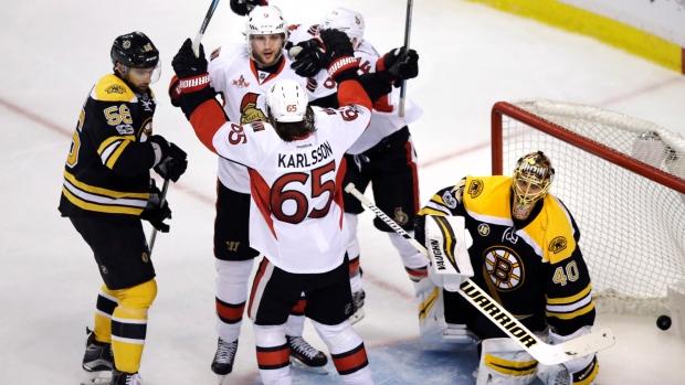 Ottawa Senators OT win vs. Boston Bruins