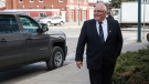 Winston Blackmore, who is accused of practising polygamy in a fundamentalist religious community, arrives for the start of his trial in Cranbrook, B.C., Tuesday, April 18, 2017. (Jeff McIntosh/The Canadian Press)