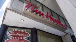 A Tim Hortons coffee shop in downtown Toronto is pictured on Wednesday, June 29, 2016. (Eduardo Lima / THE CANADIAN PRESS)