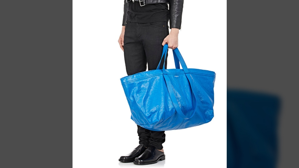"Balenciaga's ""Arena Extra-Large Shopper Tote Bag"" is shown in this photo from the website. (Balenciaga)"
