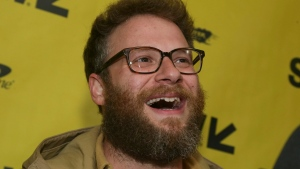In this March 12, 2017 file photo, Seth Rogen arrives for 'The Disaster Artist' at the Paramount Theatre during the South by Southwest Film Festival in Austin, Texas. (Photo by Jack Plunkett / Invision)