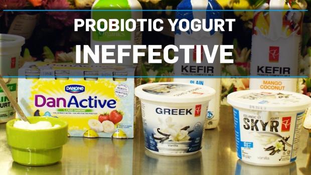 Not enough good bacteria in probiotic yogurt