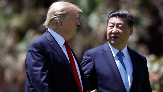 Donald Trump, left, and Xi Jinping