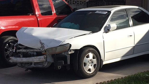 Car in which Karina Dorado was injured