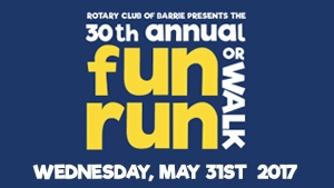 Rotary Club of Barrie - 30th Annual Fun Run/Walk