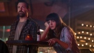 Jason Sudeikis and Anne Hathaway in a scene from 'Colossal.' (Toy Fight Productions)