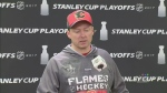 The Calgary Flames face the Anaheim Ducks for Game