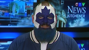 Jason Maslakow, AKA Dart Guy, speaks with CTV News Channel about his newfound fame on Wednesday, April 19, 2017.