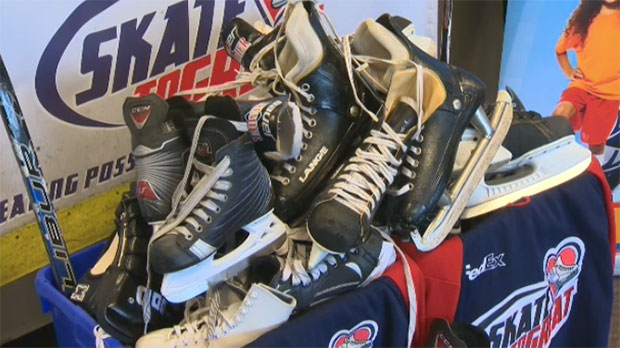 The Skate to Great program helps families with limited finances to participate in on-ice activities.