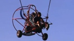 Powered parachute near airport
