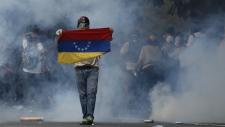 Anti-government protesters in Venezuela
