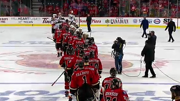 The Calgary Flames are the first team to be eliminated from the 2017 playoffs. They lost Game 4 to the Anaheim Ducks by a score of 3-1.