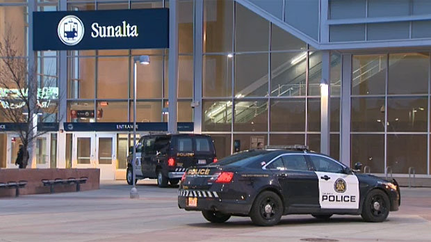 Calgary police have shut down the Sunalta LRT station as they investigate a suspicious package.