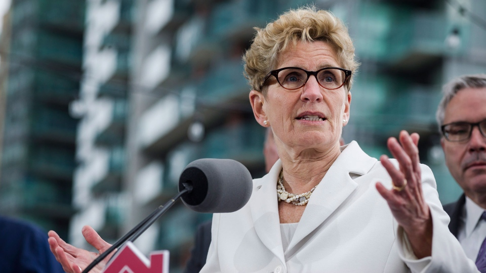 Ontario Premier Kathleen Wynne speaks about Ontario's Fair Housing Plan during a press conference in Toronto on Thursday, April 20, 2017. THE CANADIAN PRESS/Christopher Katsarov