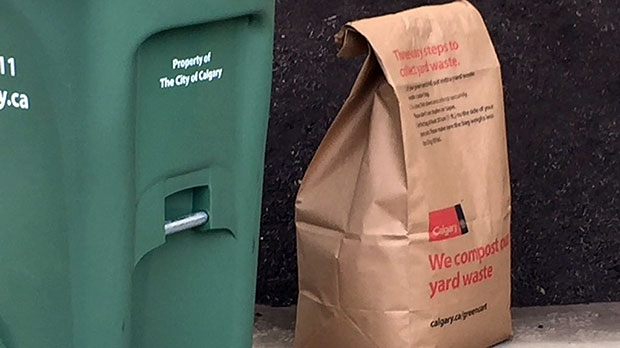 Paper bags are included for extra waste that doesn't fit inside the green bins.