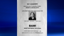 Threatening poster