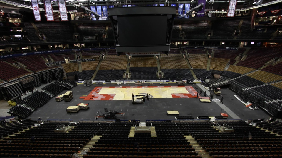 f9a70ba478b Time-lapse  From NBA to NHL at Air Canada Centre