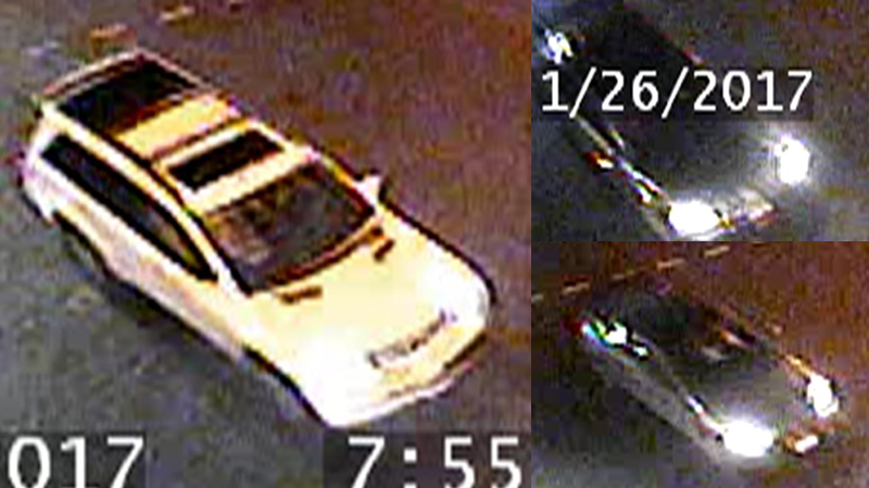 The other vehicles of interest are a grey Volkswagen Jetta, a white Mercedes GL SUV, and an unidentified smaller sedan or coupe. (Handout)