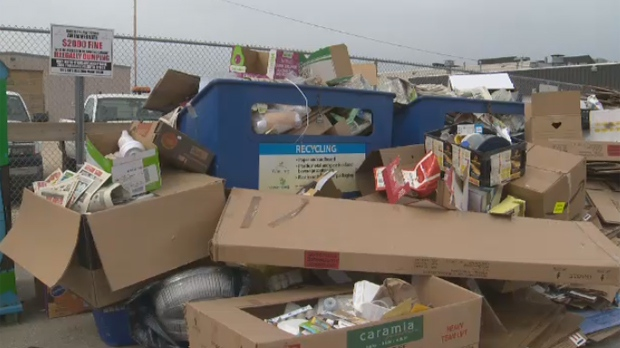 The city said the issue is due to collection equipment that was taken out of service for repair.