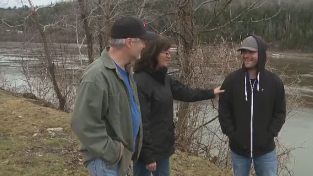 Saving people from the St. John River seems to be a family tradition for the Sutthery family.