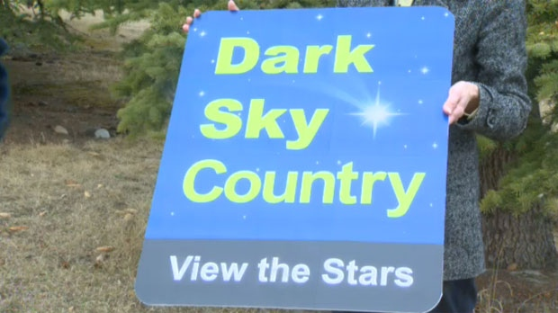 Signs like this one will start popping up south of the city in support of reducing light pollution.