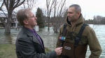 Flooding on Bonnechere River