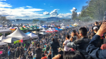A haze of smoke hovers over the crowd at approximately 4:20 p.m. during Vancouver's annual pot protest. April 20, 2017. (CTV/Penny Daflos)