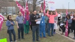 Health care workers rally against ER cuts