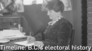 B.C. election timeline