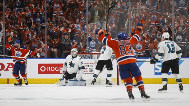 Oilers beat Sharks in Game 5