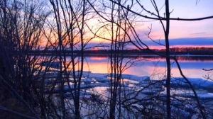 Sunset over the Saskatchewan River. Photo by Carmen Hagborg.
