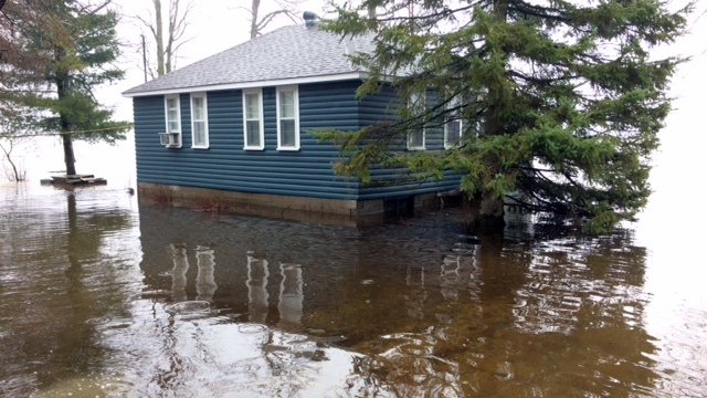 House in the Pontiac surrounded by water