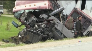 Crash leaves truck driver in critical condition