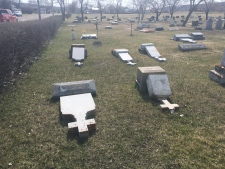 Graves vandalized in Lebret