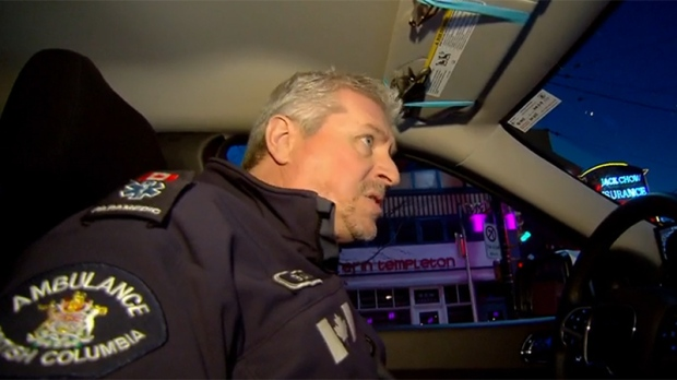 Paramedic Brian Twaites navigates the streets of Vancouver, searching for the victim of an overdose call.