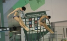 The men's 10m synchro platform final at the FINA/NVC Diving World Series in Windsor, Ont., on Friday, April 21, 2017. (Melanie Borrelli / CTV Windsor)