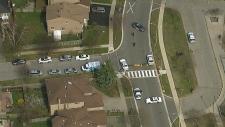 child struck, pedestrian, Scarborough, Canmore
