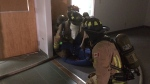 Firefighters practice rescue training downtown