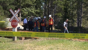 RCMP were in Woss throughout the day Friday investigating the scene that stretches at least two kilometres. Apr. 21, 2017 (CTV  Vancouver Island)