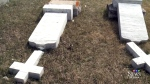 Over a dozen graves desecrated in Lebret